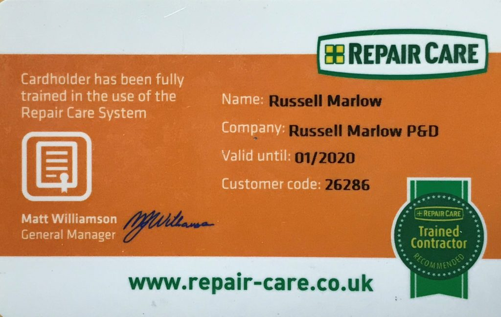Repair Care Contractor Card